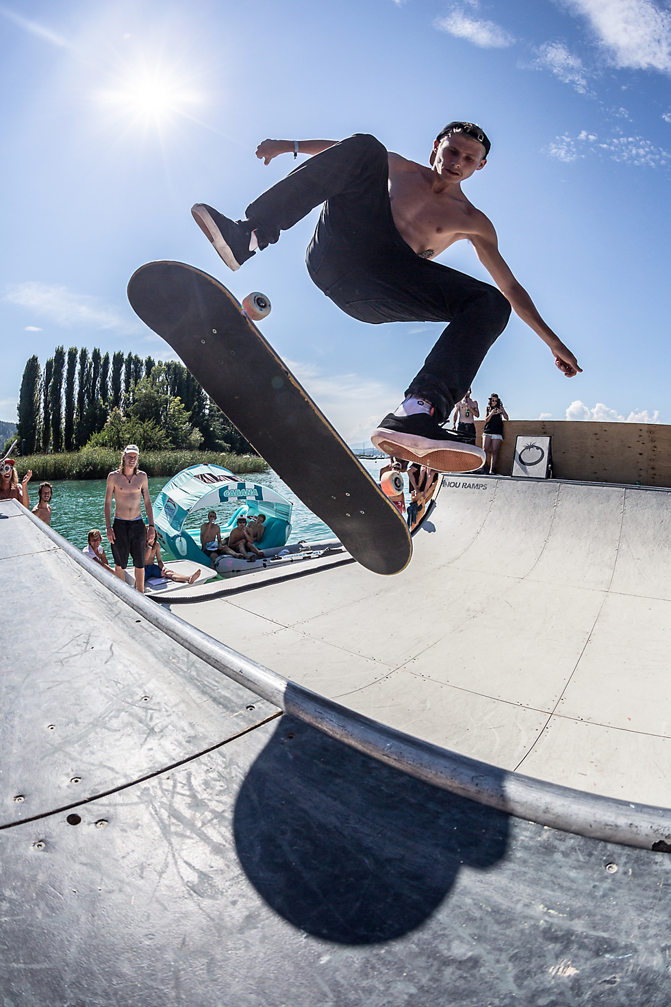 Dannie Carlsen with a massive flip trick