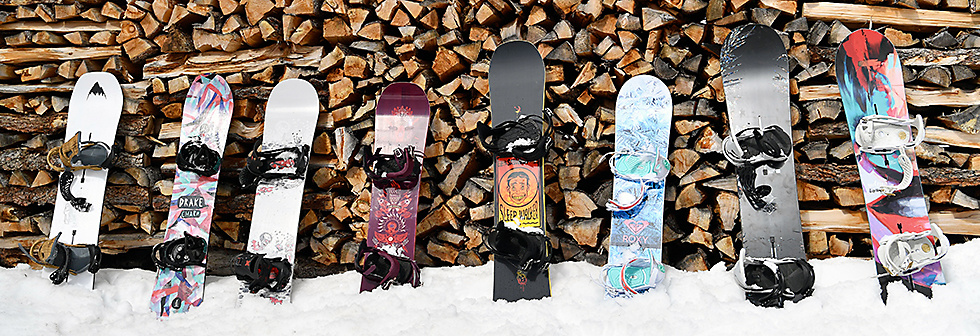Snowboards from Burton, Drake, Salomon and Roxy for every riding style