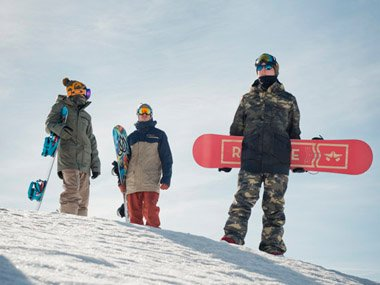 Freestyle Snowboards and Rome men's outerwear