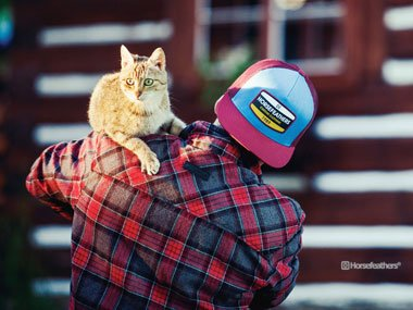 Streetstyle for men by Horsefeathers with cat