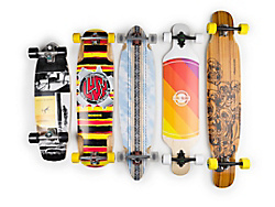 Longboard decks from cruiser to freeride to dancing