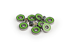 Steel or ceramic bearings for longboards and skateboards