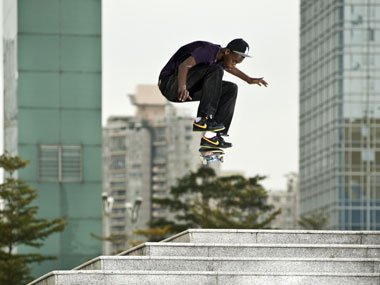 Lifestyle skateboarding with Nike