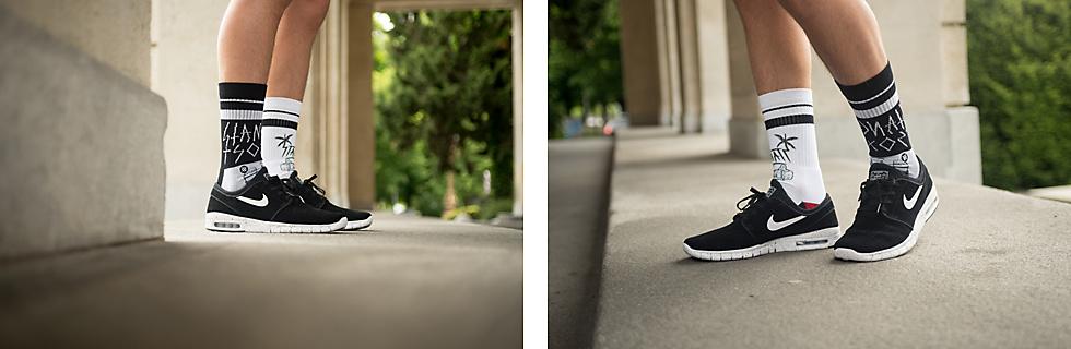 5f927a29fb319c Nike Stefan Janoski Max Suede Sneakers   Stance Flyer Socks