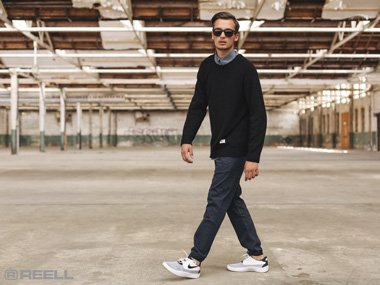 Reell men's pants and sweaters with Reell Reflex