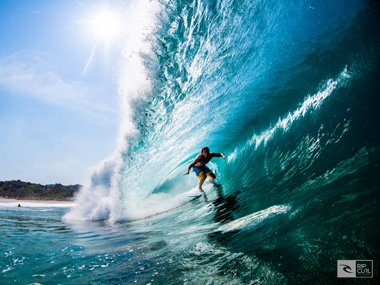 Surfing with Rip Curl