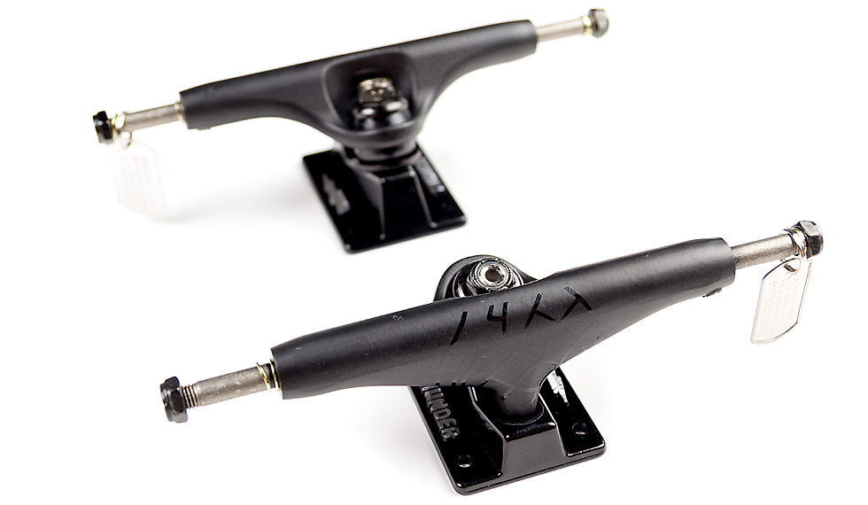 Low Hollow Skateboard Trucks with Hangers, Kingpin and Baseplate