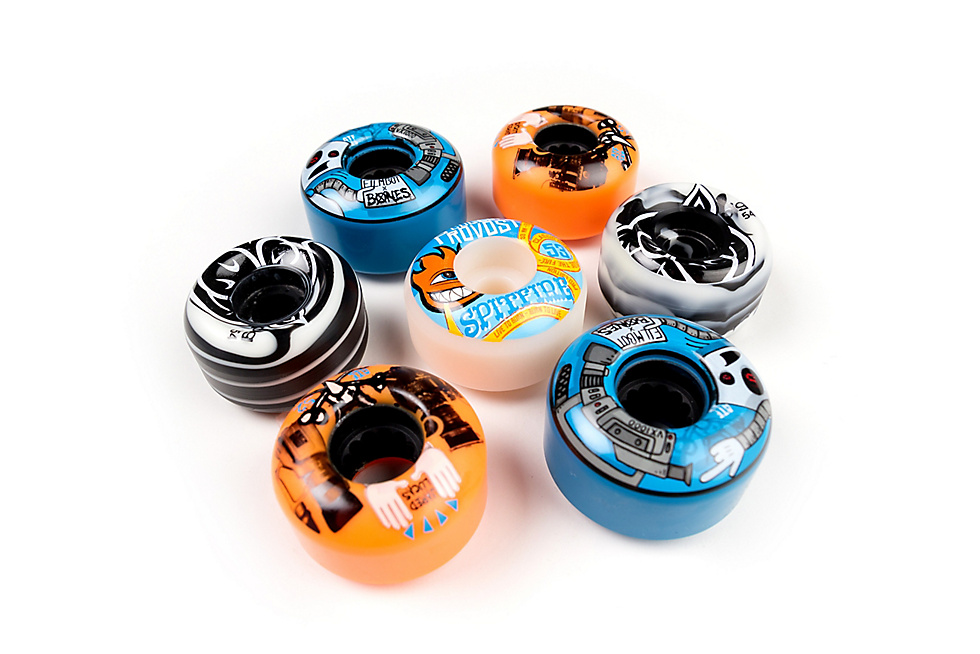 Skateboard Wheels from Pig Wheels, Bones Wheels and Spitfire