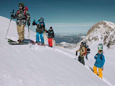 Burton men's splitboards and snowwear