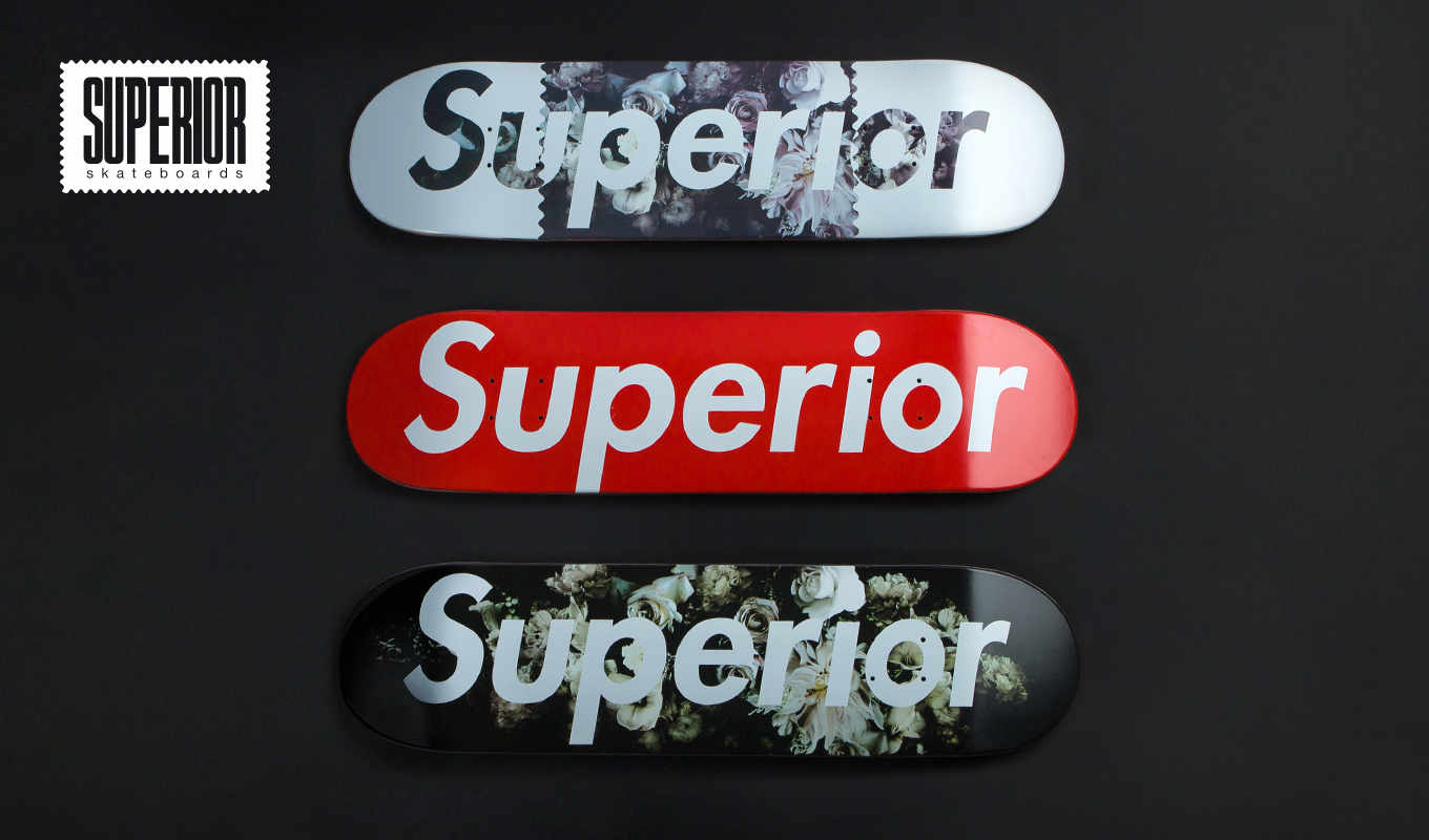 Superior Skateboard decks