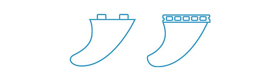Surfboard Fin Control System - kurz FCS- und Future Fins