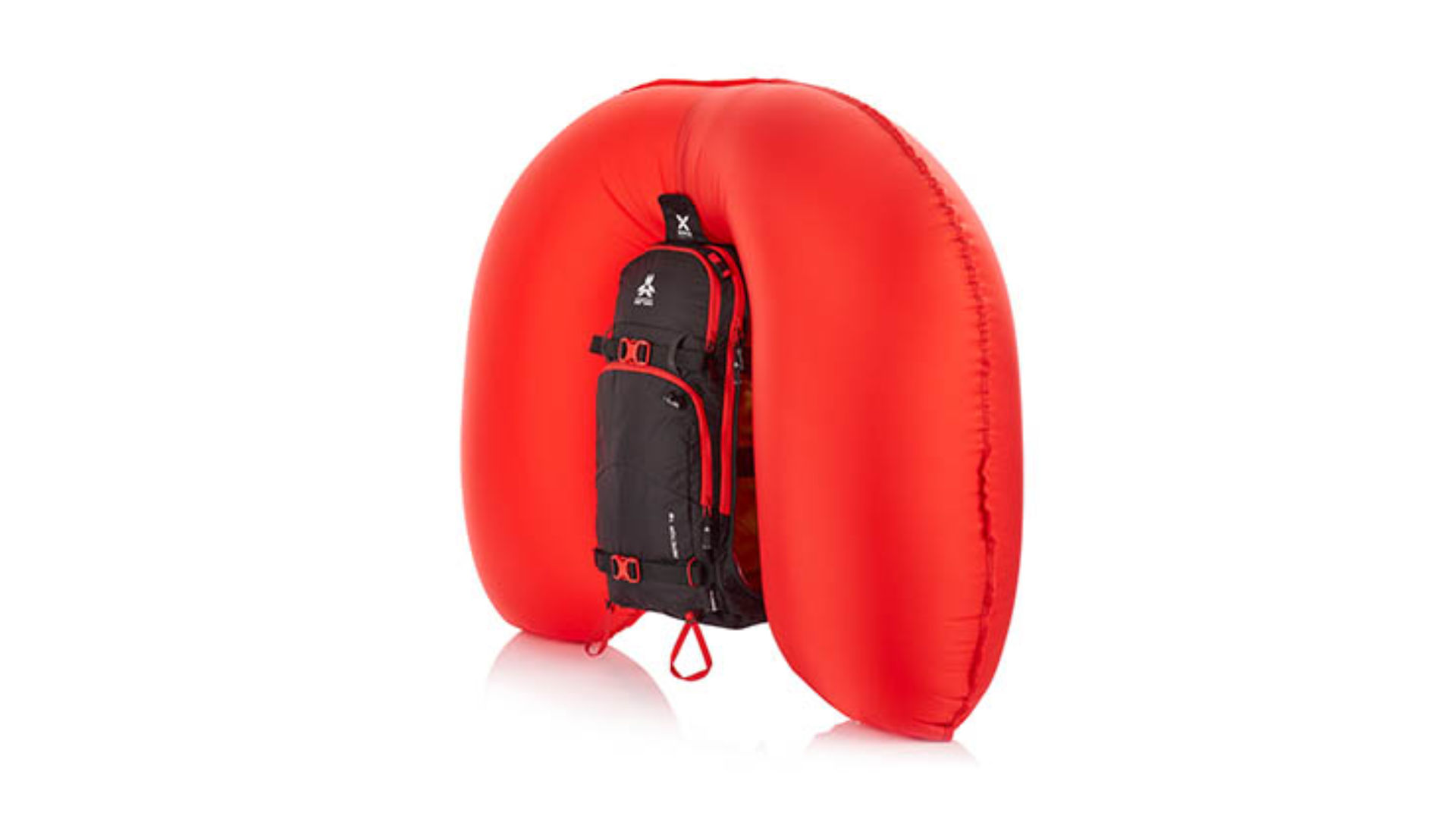Inflated avalanche backpack by Arva