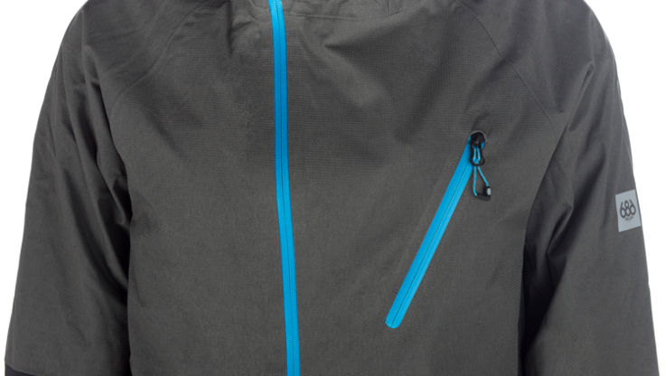 686 jacket with waterproof zips