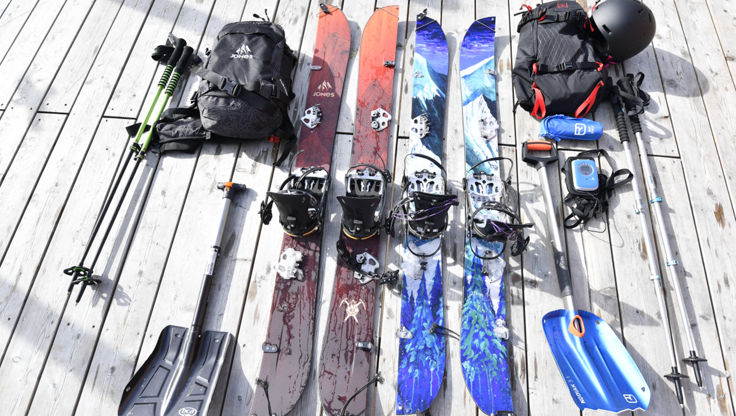 Overview of all splitboard and touring equipment you need