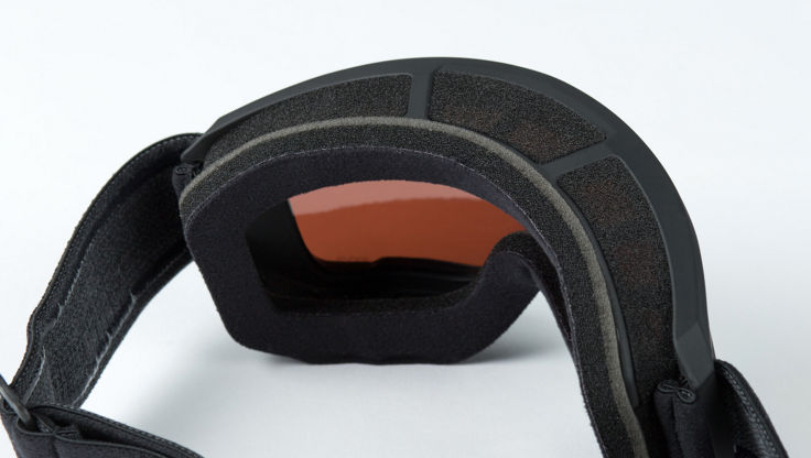 The inside of a Anon M3 goggle showing a triple-density face foam