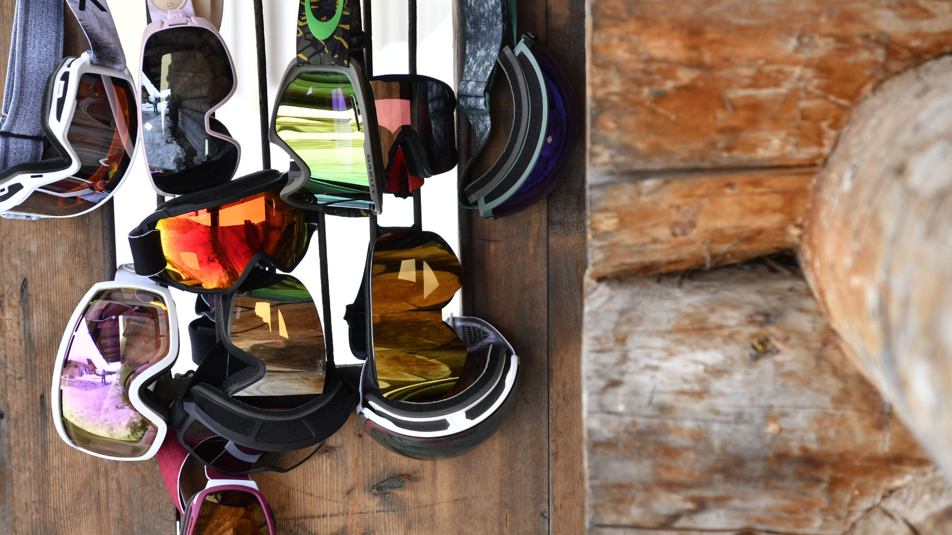 Selection of goggles with double lenses