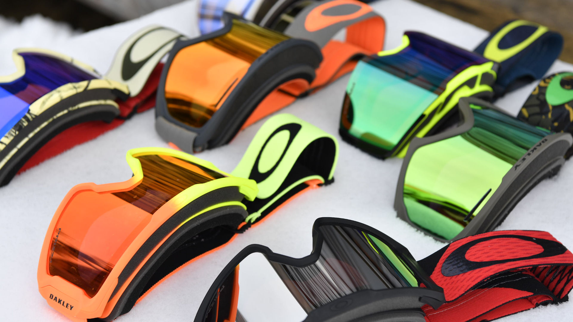 Different goggles from Oakley with Prizm lenses