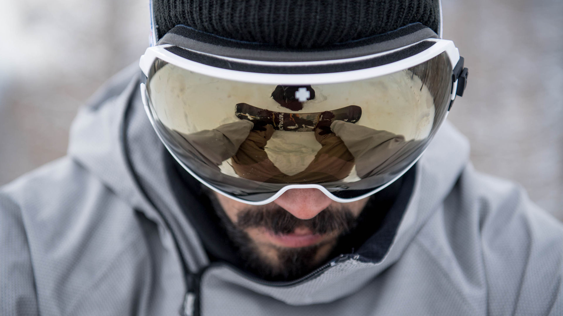 Goggle with a spherical lens from SPY
