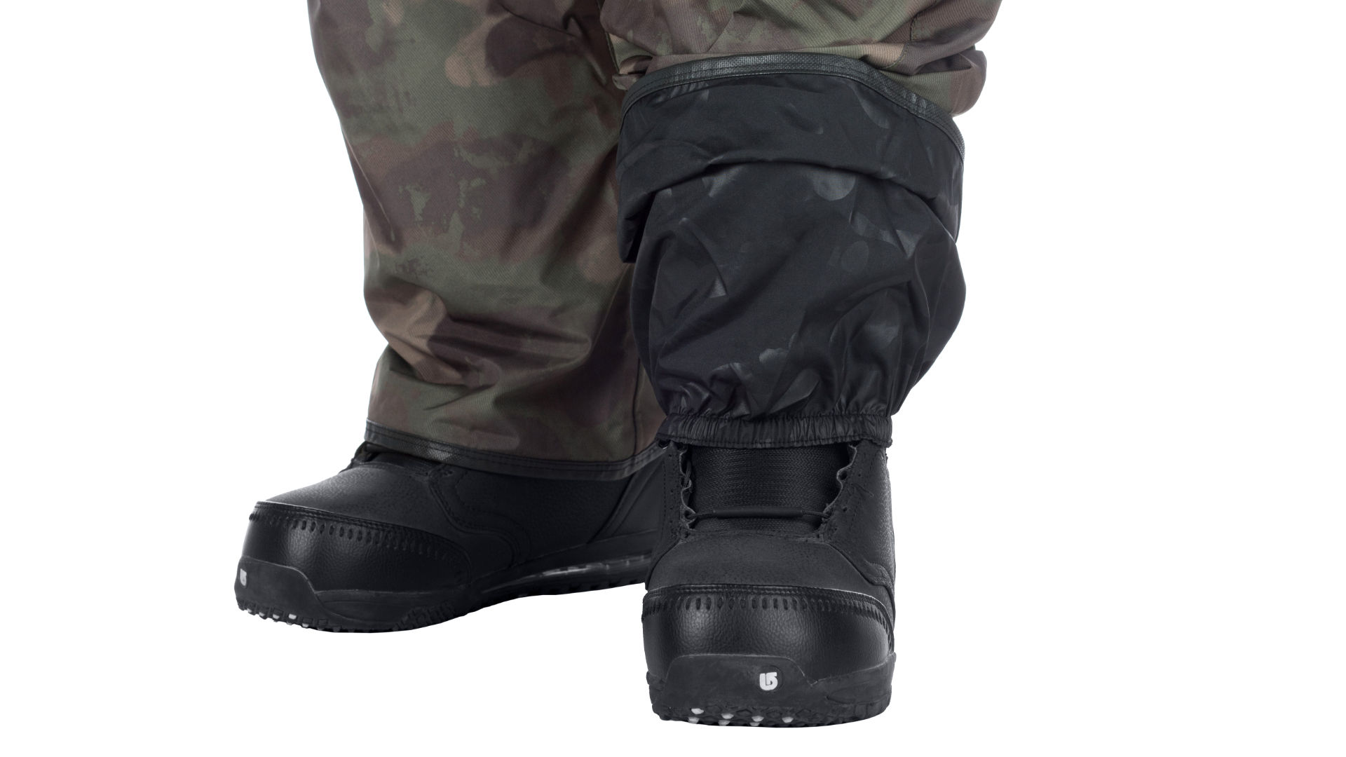 Volcom pants with boot gaiters