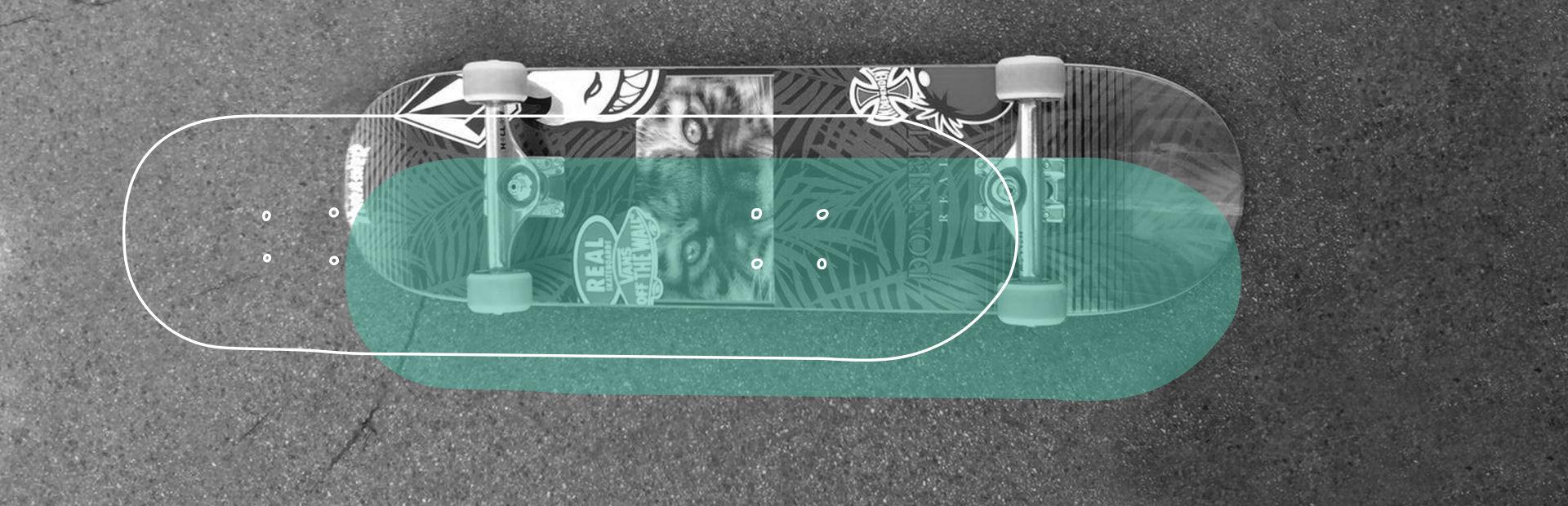 Skateboard-deck closeup