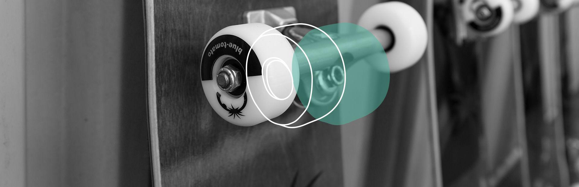 Skateboard wheels closeup