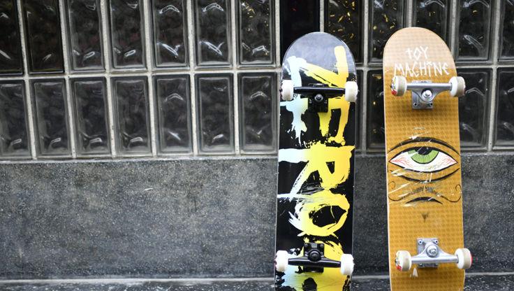 Zero Blood Rainbow and Toy Machine complete skateboard setups