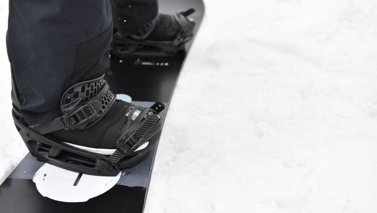 Burton snowboard boots, binding and board fitting together
