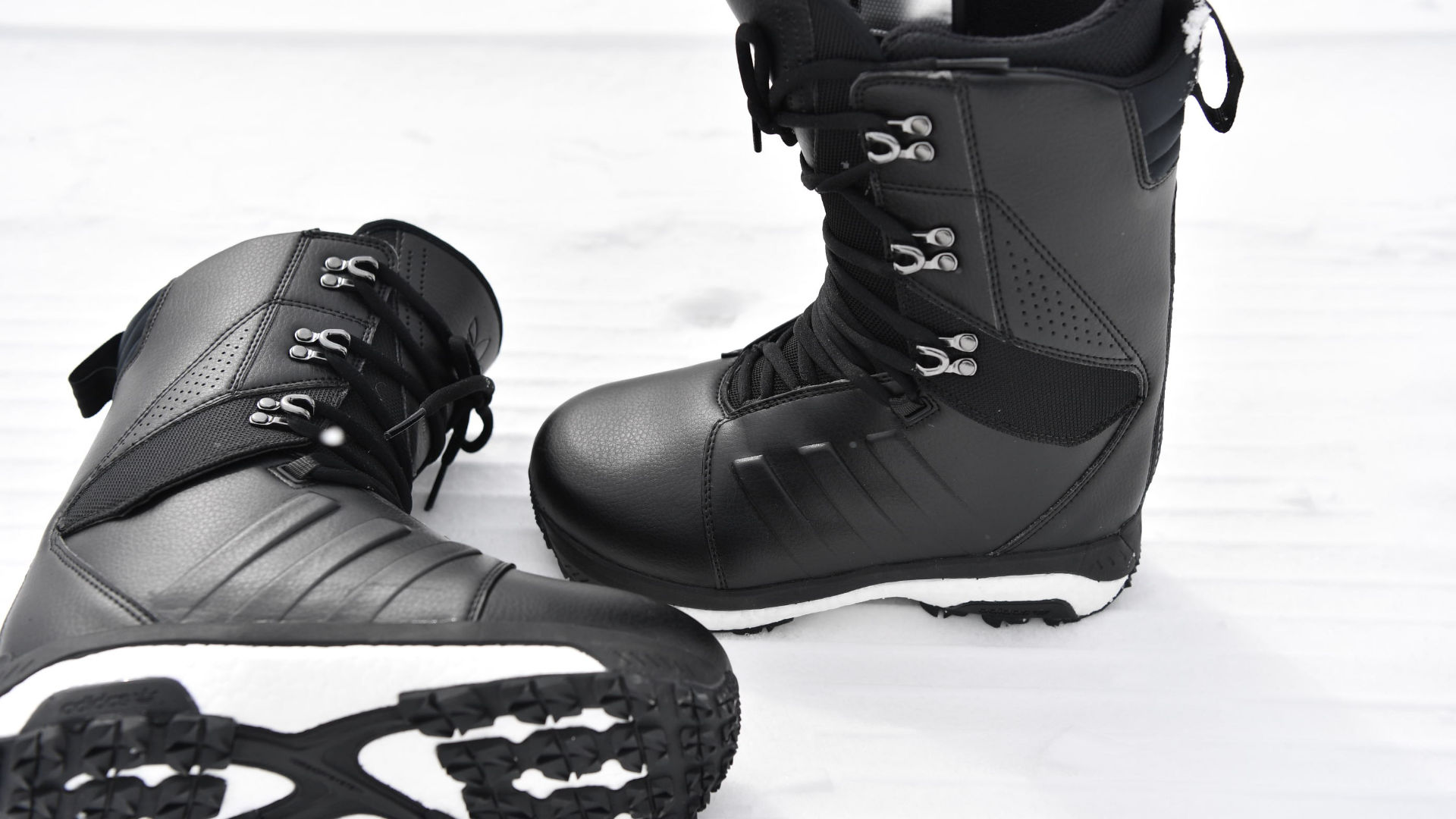 7cc35a6120048 The cushioning soles of an adidas snowboard boot