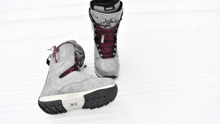 Nitro Crown TLS snowboard boots with speed lacing