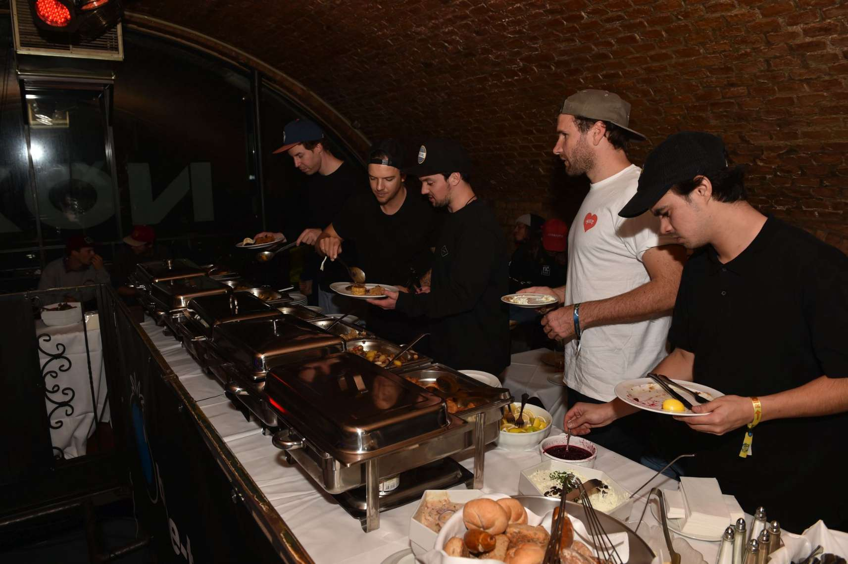 Before the movie premieres started, riders enjoyed some classic Austrian dinner