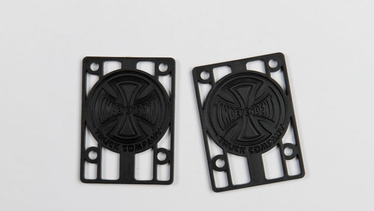 Riser pads from Independent for bigger wheels